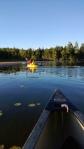 Paddling around Long Pond